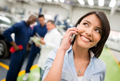 Caller ID Management Happy customer on telephone